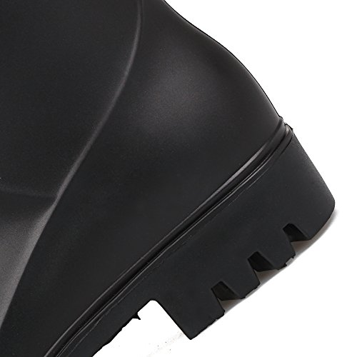 Signora PVC Con Antiscivolo Impermeabile Stivali da pioggia Black