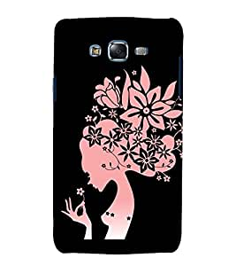 printtech Beautiful Flower Girl Abstact Back Case Cover for Samsung Galaxy Core i8262 / Samsung Galaxy Core i8260
