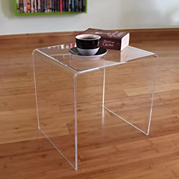Side End Table Clear Acrylic Perspex Plastic