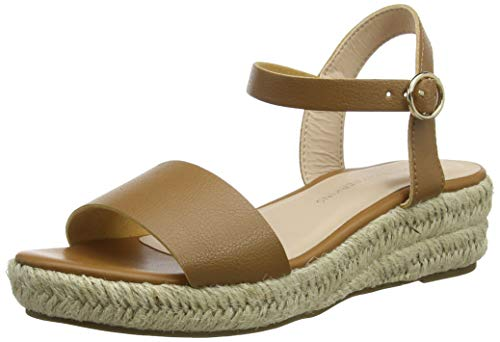 Dorothy Perkins Damen Rhiannon 2 Part Wedge Flatform Sandalen, Beige (Tan 500), 41 EU -