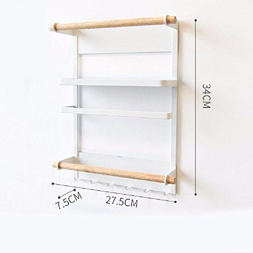 ZPSPZ Küchenregal Japanische Einfache Kühlschrank Rack Küche Storage Rack Magnetische Kühlschrank Rack,Weiße