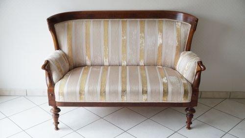 Antik Sofa Couch Spätbiedermeier Louis-Philippe 1840-1880 neu gepolstert