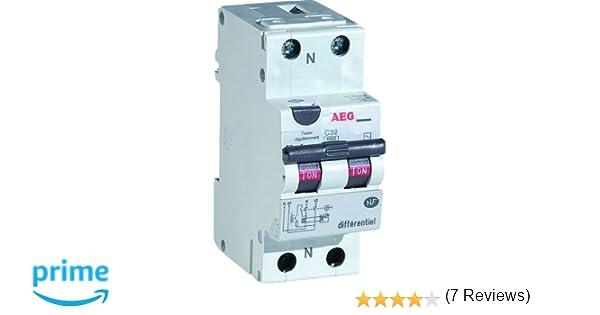 expédition de baisse en arrivant factory AEG AUN608452 Disjoncteur Différentiel 16 A 30 mA Type AC ...