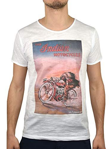 1stAmerican Casual T-Shirt Stampata da Uomo Manica Corta Girocollo - Maglietta 100% Cotone
