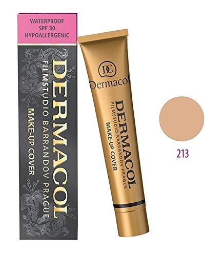Dermacol Make-up Cover (Grundierung Deckt Tätowierung und Narben), Mittleres Beige-Rosy 213, 30 g