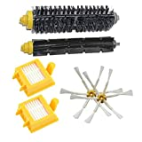 Coco 6PCS Multiuse New Replacement Brushes Vacuum Cleaner Accessories Parts for iRobot 700 Series