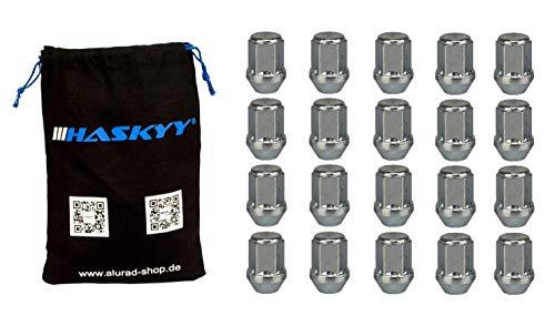 20 Radmuttern Rad Muttern Zink M12x1,5 Schaftlänge: 34mm Kegel 60° Kegelbund SW19