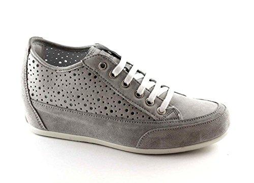 IGI&CO 77860 acciacio Grigio Scarpe Donna Sneakers Lacci Forata Zeppa Interna Grigio