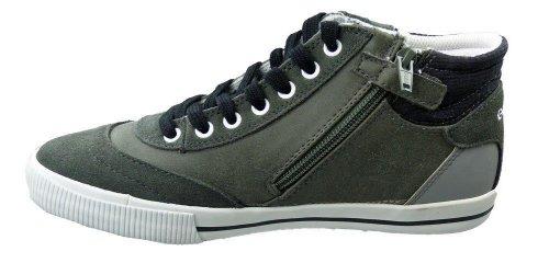 Geox GJ-257, Sneaker bambini Nero (Grey-Black)