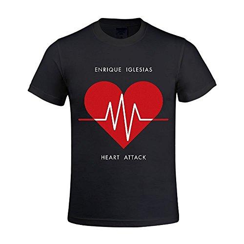 Enrique Iglesias Heart Attack Herren's O Neck Design T-Shirt Large
