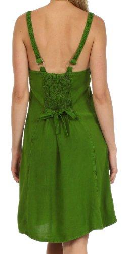 Sakkas Sakkas Jayanti – vestito in rayon con ricami Verde
