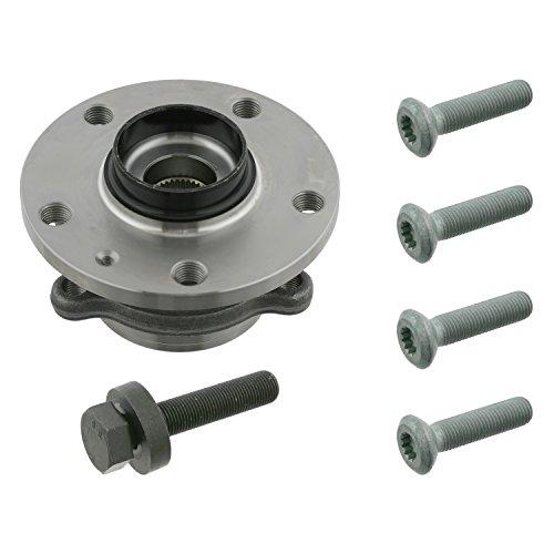 febi bilstein 27317 Radlagersatz mit ABS-Impulsring und Schrauben (Radlager), 1 Stück