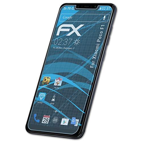 atFoliX Protezione Pellicola dello Schermo per Xiaomi Poco F1 Pellicola Protettiva - 3 x FX-Clear ultra trasparente Pellicola Proteggi