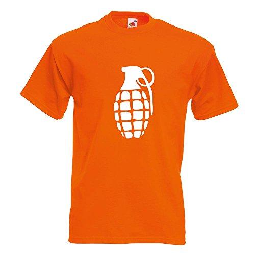 KIWISTAR - Handgranate T-Shirt in 15 verschiedenen Farben - Herren Funshirt bedruckt Design Sprüche Spruch Motive Oberteil Baumwolle Print Größe S M L XL XXL Orange