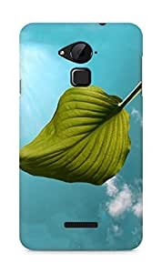 Amez designer printed 3d premium high quality back case cover for Coolpad Note 3 (Big green leaf fine)