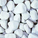 Cobbles décoratifs blancs de 50 à 75 mm 800 kg.