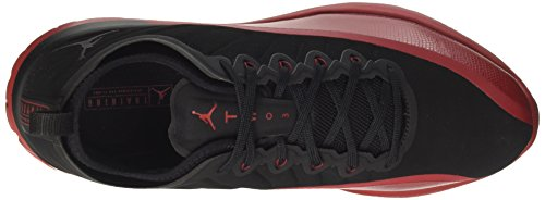 Nike Jordan Trainer Prime, Chaussures de Basketball Homme Multicolore (Black/black/gym Red)