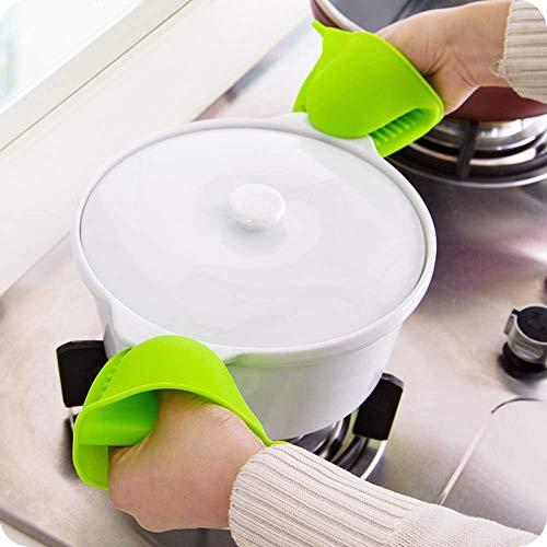 STOP 'N' BUY Set of 2 Silicone Microwave Oven Heat Resistant Pinch Grip Mitten Oven Mitt Gripper Grip Kitchen Pot Holder Utensil Tool