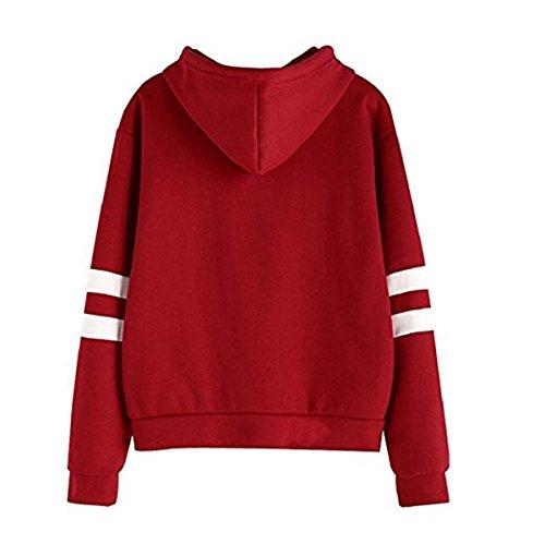 Faith Wings Donna Autunno Manica Lunga Cappotto Giacca Felpa Con Cappuccio Gli Occhiali Harry Potter Stampare Sweatshirt Hoodies Rosso