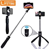UPSTONE Selfie Stick, Extendable Selfie Stick Tripod with Detachable Wireless Remote and Tripod Stand for iPhone X/iPhone 8/8 Plus/iPhone 7/7 Plus, Galaxy S9/S9 Plus/S8/S8 Plus/Note8,Huawei,More