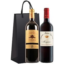 Vins-Fins Coffret Prêt à Offrir - Pomerol & Margaux - 2 bouteilles de 75cl