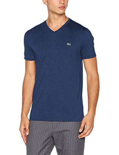 Lacoste Th6710, T-Shirt Uomo Nero (Ancre Chiné)