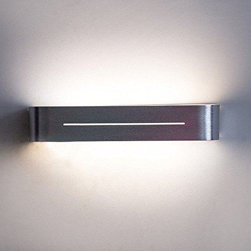 HRCxue Spiegelleuchte LED-Wandlampe Nachttisch-Schlafzimmer-Augen-Schreibtisch-Leselernen-Lichter Badezimmer-Make-up oben und unten beleuchtet Neutrallicht 38 * 7.4 * 7cm 10w