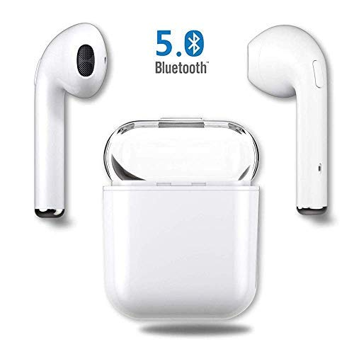Bluetooth-Kopfhörer-drahtlose Ohrhörer-Stereo-Kopfhörer-drahtlose Sport-Kopfhörer für iPhone X MAX/XR/X / 8/7/6 / 6s Plus Samsung-Galaxie S7 S8 S9 Plus Android Huawei XIAOMI-Weiß -