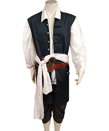 MingoTor Piraten Vest Weste Cosplay Kostüm Herren S (Piraten Weste Kostüm)