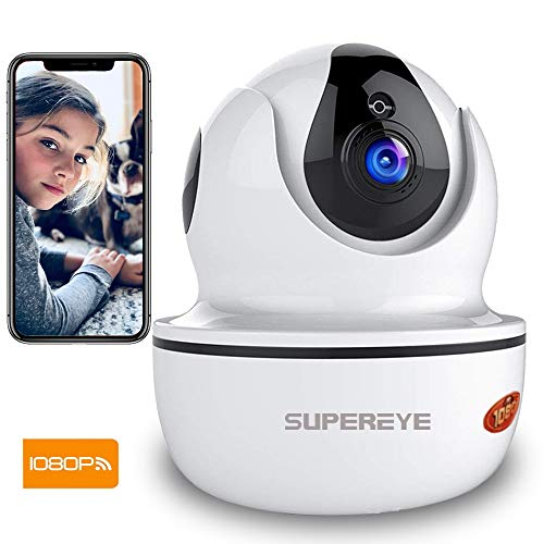 Camara Vigilancia SUPEREYE 1080P Cámara IP, Cámaras de Vigilancia WiFi Interior FHD...
