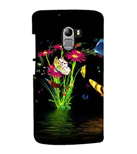 printtech Water Flowers Back Case Cover for  Lenovo K4