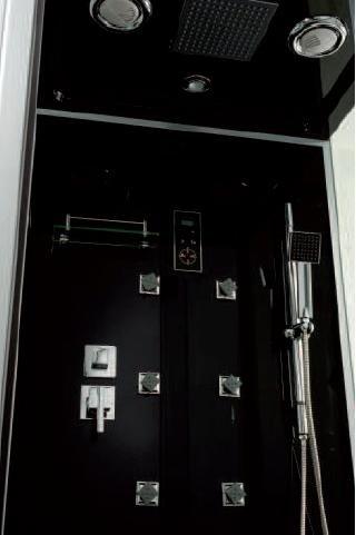 aqua plus sachcabytal ytal 90 90 cabine de douche hydro noir inspid co. Black Bedroom Furniture Sets. Home Design Ideas
