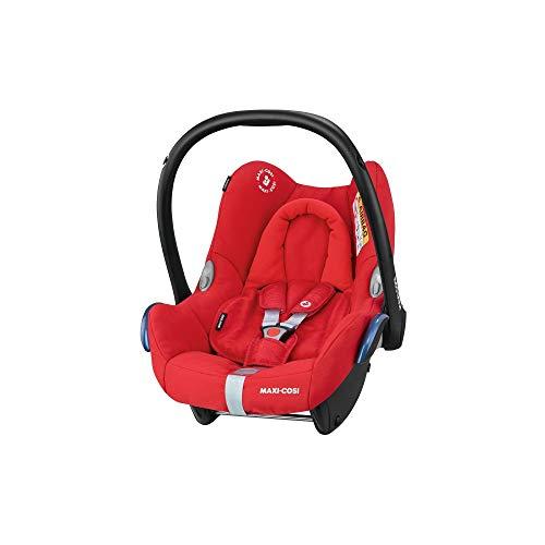 Maxi-Cosi CabrioFix Babyschale, Gruppe 0+ Kindersitz (0-13 kg), nutzbar ab der Geburt bis ca. 12 Monate, Kollektion 2019, nomad red