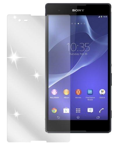dipos I 2X Schutzfolie klar passend für Sony Xperia T2 Ultra Folie Bildschirmschutzfolie