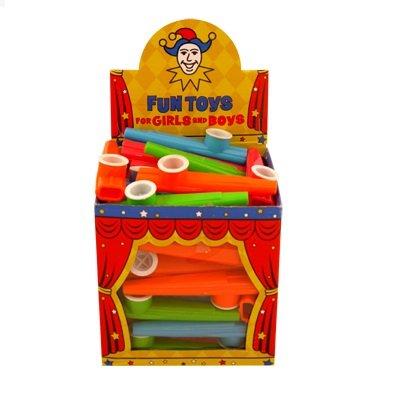 48 x Children's Plastic KAZOO Music Maker 4 Assorted Colours Wholesale Box by...