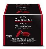 Caffe' Corsini - Classico Italiano - Confezione da 100 Capsule Compatibili Lavazza* a Modo Mio* da 7,5 grammi di caffè macinato