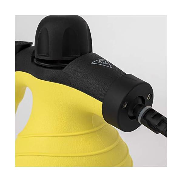 HKoenig-NV60-Pulitore-a-vaporePortatile-Multiuso-Potente-42-bars-250ml-accessori-1000W-NeroGiallo