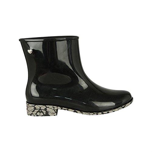 Mel-Goji Bottes Wellington pour femme, avec des chaussures de loisir pour fille Noir - noir
