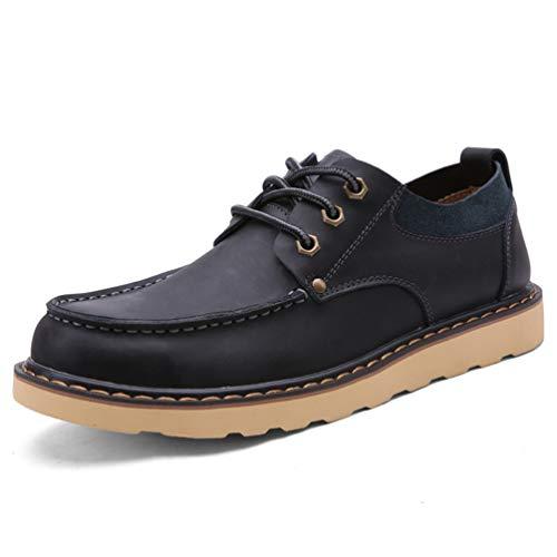 Chaussure de Travail a Lacet en Cuir Britannique Homme Automne Basse Chaussure de Ville au Loisir Résistant à l'usure