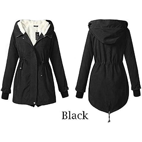 GSKBNT Il nuovo autunno e inverno vestiti cappotto ispessimento sciolto grandi dimensioni Ms Medium lunga stile cotone abbigliamento donna , black , xl