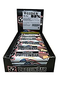 página web perfecta: Weider Mix Box 52% Barras de proteínas - 24 Barras