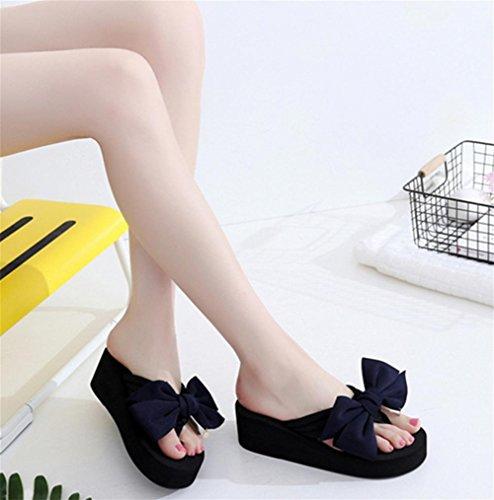 Damen Sommer Sandalen Hang Ferse Flip Fashion Clip Fuß Strand Hausschuhe 2