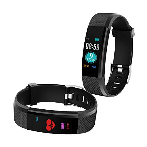 Bingo Fitness Band, Activity Tracker with Heart Rate Monitor,iP67 Waterproof Smart Watch Bracelet Color Screen Sleep Monitor Fitness Tracker for Android or iOS Smartphones (Black)