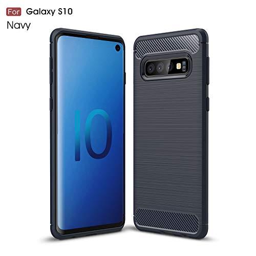 Gray Plaid Samsung Galaxy S10 Hülle,Ultra-dünne Weiches Flexible TPU Silikon Anti-Scratch und Anti-Schock Stoßdämpfend Spiegel Schutz Handy Hülle Case Back Cover Bumper für Samsung Galaxy S10 - Blau