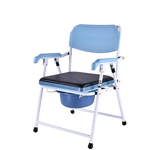 SHKD Gesundheitswesen Portable Faltender alter Mann Gepolsterte Toilettensitzbewegung Toilette Schwangere Bad Stuhl Dusche Stuhl (4 höhenverstellbar) , A -