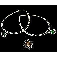 Silberne Ohrringe - Silberne Reifenohrringe - Zigeuner Ohrringe - Stammes-Ohrringe - ethnische Ohrringe - Indische Ohrringe - Erklärung Ohrringe - Große Ohrringe - Silberschmuck - Große Reifen