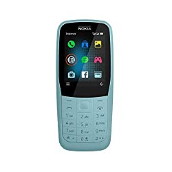 Nokia 220 Feature Phone, 2, 4 Zoll, 24MB ROM, 16MB RAM, Version 2019, Blue