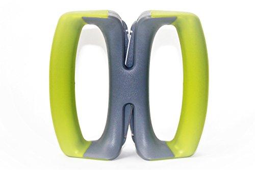 Simprium–verde lime flex 2fase affilare i coltelli da cucina manuale con borsa regolabile in ceramica & tungsteno affilatura canne a sharp dull lame
