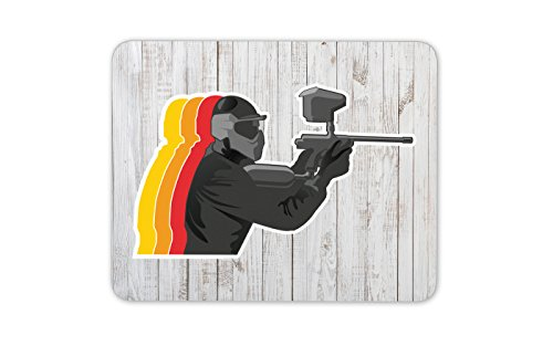 Paintball Tappetino mouse pad - Paintball combattimento bersaglio Army regalo Computer # 4034