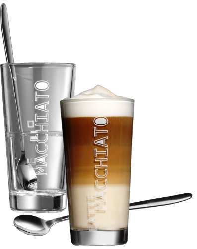 Ritzenhoff & Breker Latte Macchiato Gläser Lena mit Löffel, 4-teilig, 350 ml